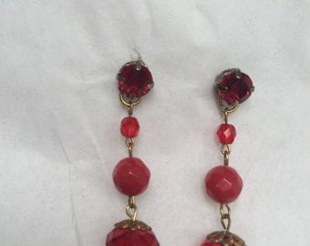The Lady In Red Earrings