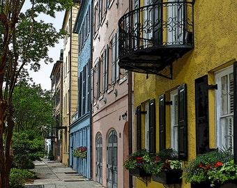 Rainbow Row Print, Rainbow Row Charleston, Charleston Art,  Charleston Photography, Charleston Fine Art, #CH 3616