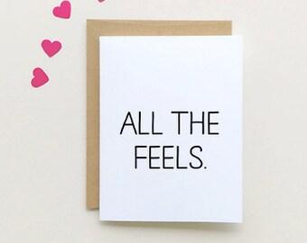 All The Feels, Love Card.  SKU : FC122