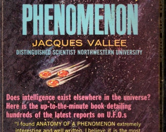 Anatomy Of A Phenomenon by Jacques Vallee 1965 UFO Paperback.