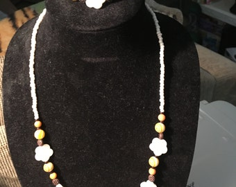 Hand crafted original Necklace with matching bracelet