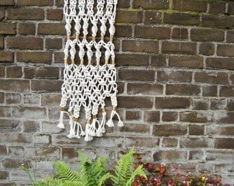 Medium Macramé tapestry with brass elements//hand knotted macramé wall carpet//wallart//wall decoration//wall decor