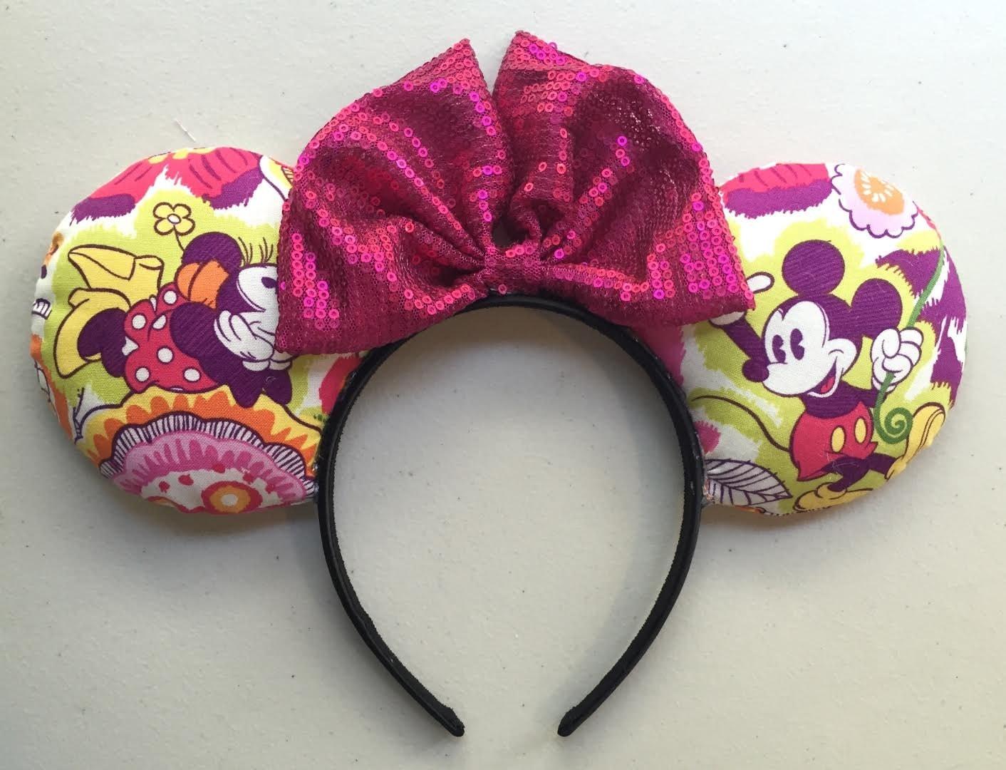 vera bradley floral disney ears handmade minnie ears