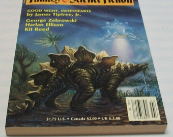 Magazine of Fantasy and Science Fiction March 1986 Paperback Book