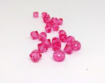 6mm Rose Bead, Swarovski Xilion Bicone, 5328 Bead, Coral Beads, Pink Beads, Jewelry Supplies, Swarovski Elements, Diy Jewelry, YC5453