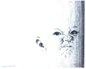 Typewriter Drawing: Avery As A Rectangle - Limited Edition Screen Print