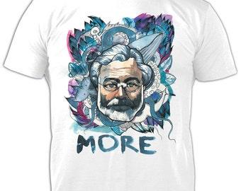 Hemingway T-Shirt, Roll-up Sleeves T-shirt, Icon T-Shirt