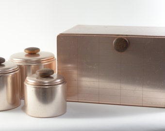 Mirro Canisters and Breadbox Set