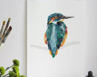 British Bird Print - Kingfisher