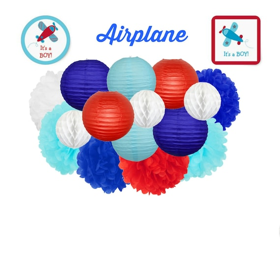 Airplane party decoration airplane baby by lovelypartystudio for Airplane party decoration