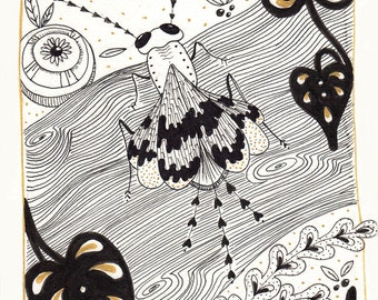 To be a fly - original Illustration