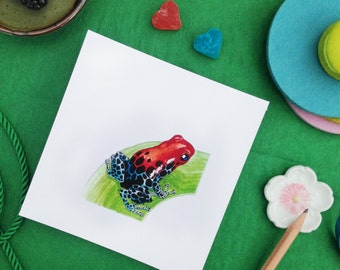 Javier the Poison Dart Frog - limited edition Giclee print