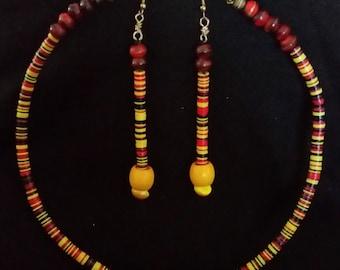 Ethnic Beaded Multi-Color Earring Set
