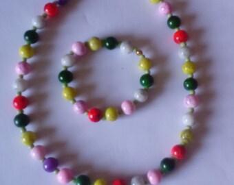 parure necklace and bracelet