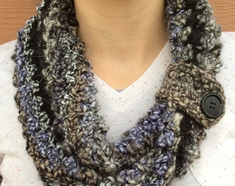 Multicolored Crochet Infinity Scarf