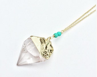 Quartz Pendulum Necklace