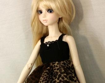BJD,MSD, leopard dress, bjd dress, msd dress,
