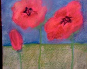 redflowerart, poppiesonboard, poppiesart, greetingcards, thankyoucards, beachhouse, prettyflowers, artcards, handmade cardsLOVE