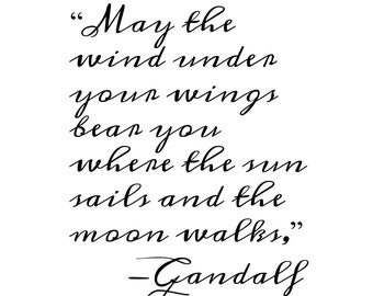 The Wind Under Your Wings - INSTANT DOWNLOAD