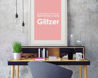 Glitter print
