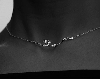"Fine necklace with charms ""squirrel"" all in Silver 925"