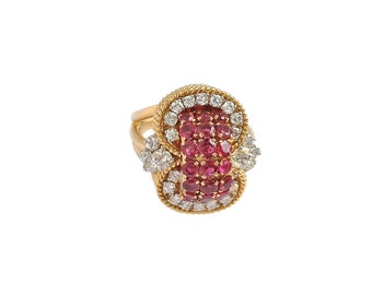 Gorgeous Diamond and Ruby Vintage Ring