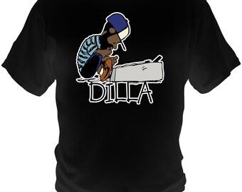 J Dilla Black T-Shirt Doughnuts Shining Graphic Tee Jay Dee SV Hip-Hop super producer