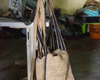 Ash Bag, Handmade, Recycled Burlap, Purse, Bag, Ethiopia, Africa, Artisan, Fair-trade, African Purse