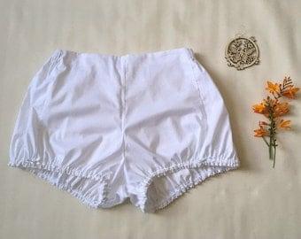 Bloomers/Shorts/Knickers/Pyjamas/Pajamas - Vintage Style - 100% Cotton Lawn - White/Cream/Black - Made to Order