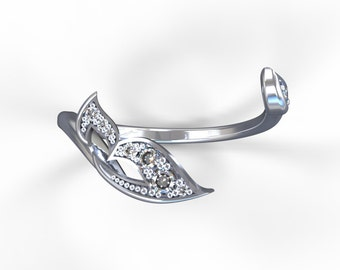 """Stackable diamond """"Fairiery Wing"""" band"""
