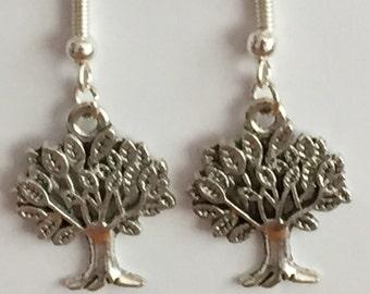Tree of Life dangle earrings, Nature earrings, gift for her, tree earrings, tree jewellery, botanical earrings, nature lover gift