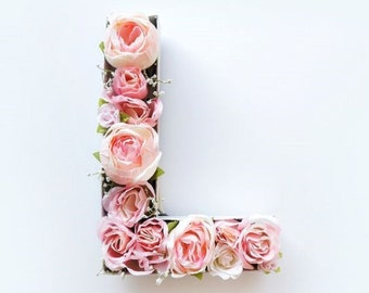 3D Letter similar to this one filled with flowers of your choice, etc.