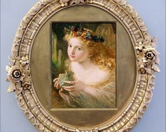 Vintage Art 'Take the Fair Face of Woman' by Sophie Anderson 8 by 10 Quality Fine Art Print