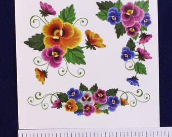 Temporary Tattoo Flowers TT086