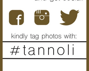 4 x 6 Downloadable Hashtag Sign!