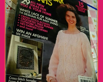 August 1991 McCall's Needlework and Crafts Magazine OOP