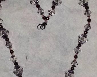 Handmade Grey Acrylic Necklace