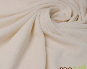 ProECO® Organic Cotton Velour Fabric (Natural, sold by the yard)