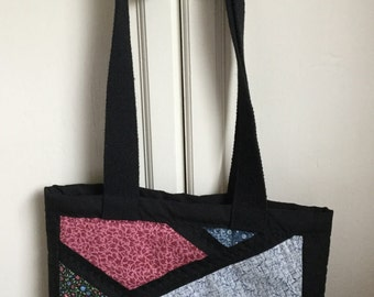 Handmade Patchwork Quilted Tote Bag