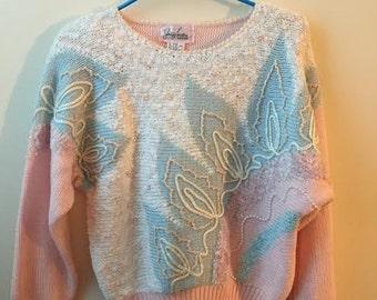 Vintage Pink 80s Sweater