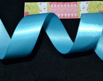 10 YARDS!!!!!, 7/8 double sided satin ribbon, TURQUOISE, ribbon, satin, satin ribbon, diy crafts, diy