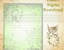 Adam and Eve, Stationery, Christian Stationery, Christian Writing Paper, Bible Stationery, Bible Story, Creation Story, Angel Stationery