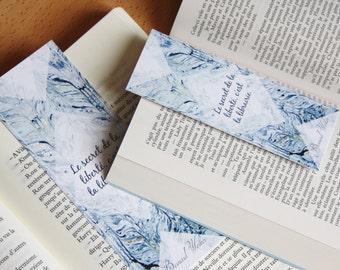 Bookmark Art drawing print, Bernard Werber, quote illustration brand page
