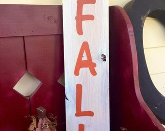 wood hello fall sign/wood sign/wood fall sign/fall sign