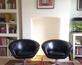 Two Vintage Overman Pod Chairs - Mid Century Modern - Scandi - Eames - Jacobsen