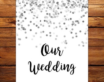 Silver Confetti Wedding Planner Printable
