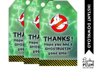 Ghostbuster Favor Tags  / Ghost Buster Favor Tags  / Boy Favor Tags  / Lego Favor Tags  / *Digital file*