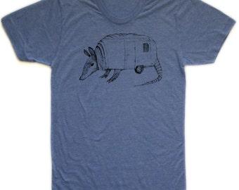 armadillo tshirt, airstream tshirt, unisex, animal hybrid, silkscreened tshirt, graphic tshirt, animal tshirt, men's gift ideas