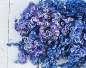Hand Dyed Teeswater Wool Locks - Hydrangea - 2.9 ounces