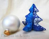 Christmas Tree Ornament - Stuffed Fabric Tree - CHOOSE COLOR